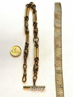Victorian pocket watch chain, Chunky, wide link chain, 13. Antique Jewelry