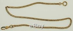 Vintage 10K Sold Yellow Gold Pocket Watch Chain 13 9.2 grams