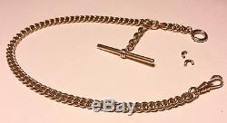 Vintage 14K Solid Yellow GOLD Pocket Watch Chain 12 43G! 1.5 Oz