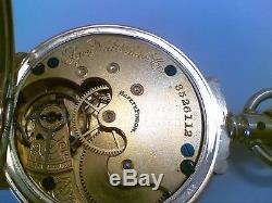 Vintage 14K Solid Yellow Gold Elgin Pocketwatch With 14k Gold Fob Chain