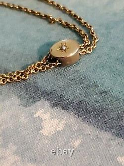 Vintage 14k Yellow Gold Chain Pocket Watch Fob Edwardian Art Deco slide 12g