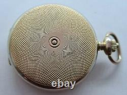 Vintage 1960 Everite 17 Jewels Gold Plated Hunter Pocket Watch Chain Working