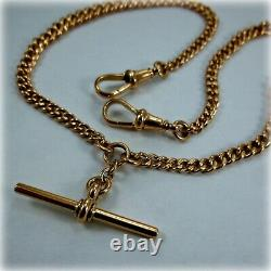Vintage 9ct Rose Gold Double Albert Pocket Watch Chain