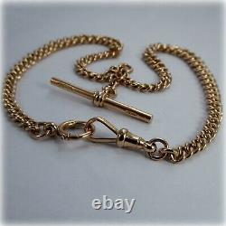 Vintage 9ct Rose Gold graduated link Double Albert 14.5 Pocket Watch Chain