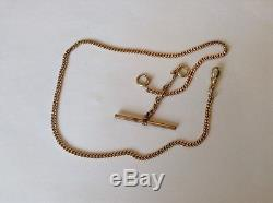 Vintage Late 1800's Solid Tested 14k GOLD Pocket Watch Fob / Chain 16 1/2 Inches
