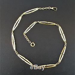 Vintage Pocket Watch Chain in Portuguese 18K SOLID GOLD 16.5 Grams