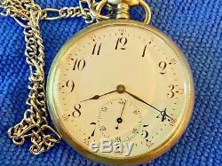 Vintage SWISS STERLING SILVER POCKET WATCH Silver Pocket Chain with knife