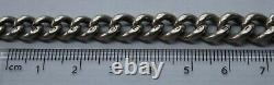 Vintage Solid Sterling Silver Graduated Double Albert Chain