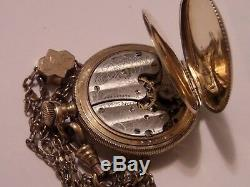 Vintage Waltham Pocket Watch Chain And Box