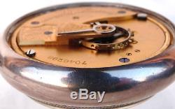 Waltham Pocket Watch Henry Bourne Sterling Double Albert Chain Pocket Watch Fob