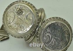 WOW! Imperial Russian officer's award silver watch&chain by Favory Geneve c1898