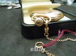 Waltham 1890 Sub-Dial 10K Solid Gold 6S 15J Pocket Watch with 5.6g 10K Chain